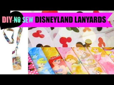 DIY No sew Disneyland Lanyards