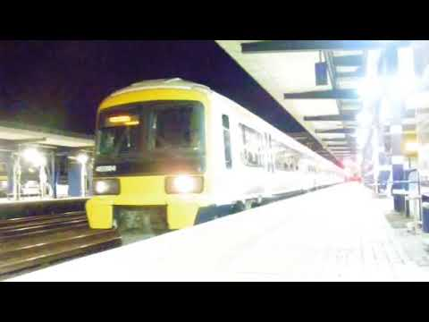 Southeastern 465904 departs Ashford on the 21:02 service to London Victoria