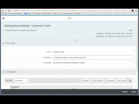 SAP HANA Rules Framework video lesson-3: How to create  outputs and actions?