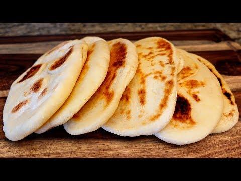 Delicious Pita Bread Recipe -  Homemade Naan Bread Easy!