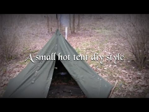 A small hot tent diy style