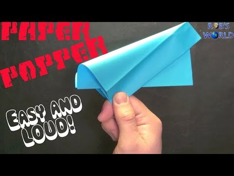 How to Make a Paper Popper! (Easy and Loud) - Rob's World