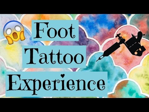 POWER WENT OUT DURING MY TATTOO?! | My Foot Tattoo Experience