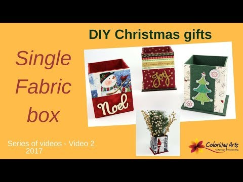 Quick and easy cartonnage fabric box