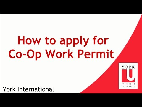 How to apply for Co-Op Work Permit