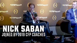Nick Saban joined by 2019 College Football Playoff coaches in press conference