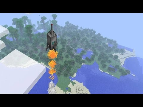 Minecraft: how to make a rocket ship that goes to the moon - (minecraft rocket ship to the moon)