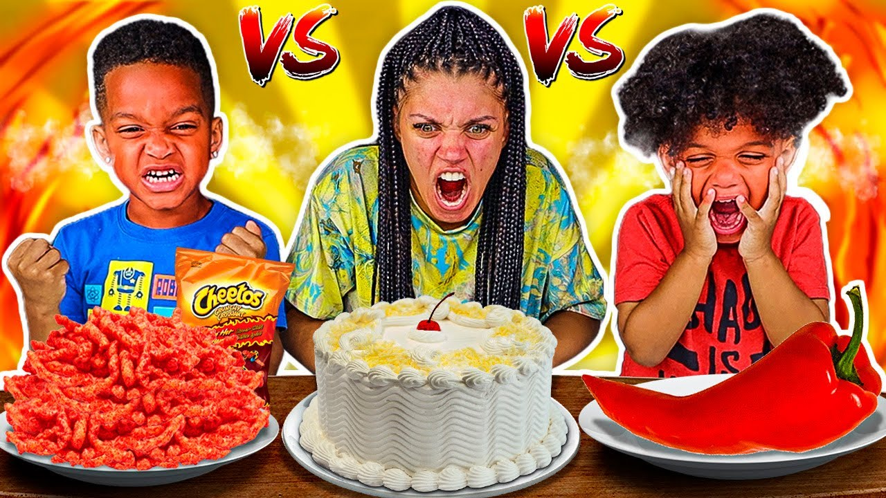 SWEET VS SPICY FOOD CHALLENGE WITH THE PRINCE FAMILY!!