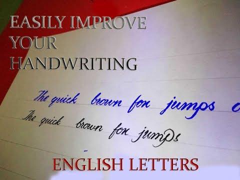 Easily Improve English Handwriting   English Lettering