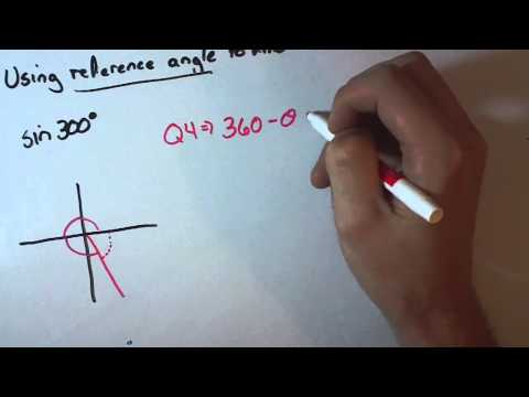 Finding Exact Values Of Trig Functions Using Reference Angles