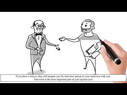 How to Apply for Asylum in the United States. Animation for asylum seekers