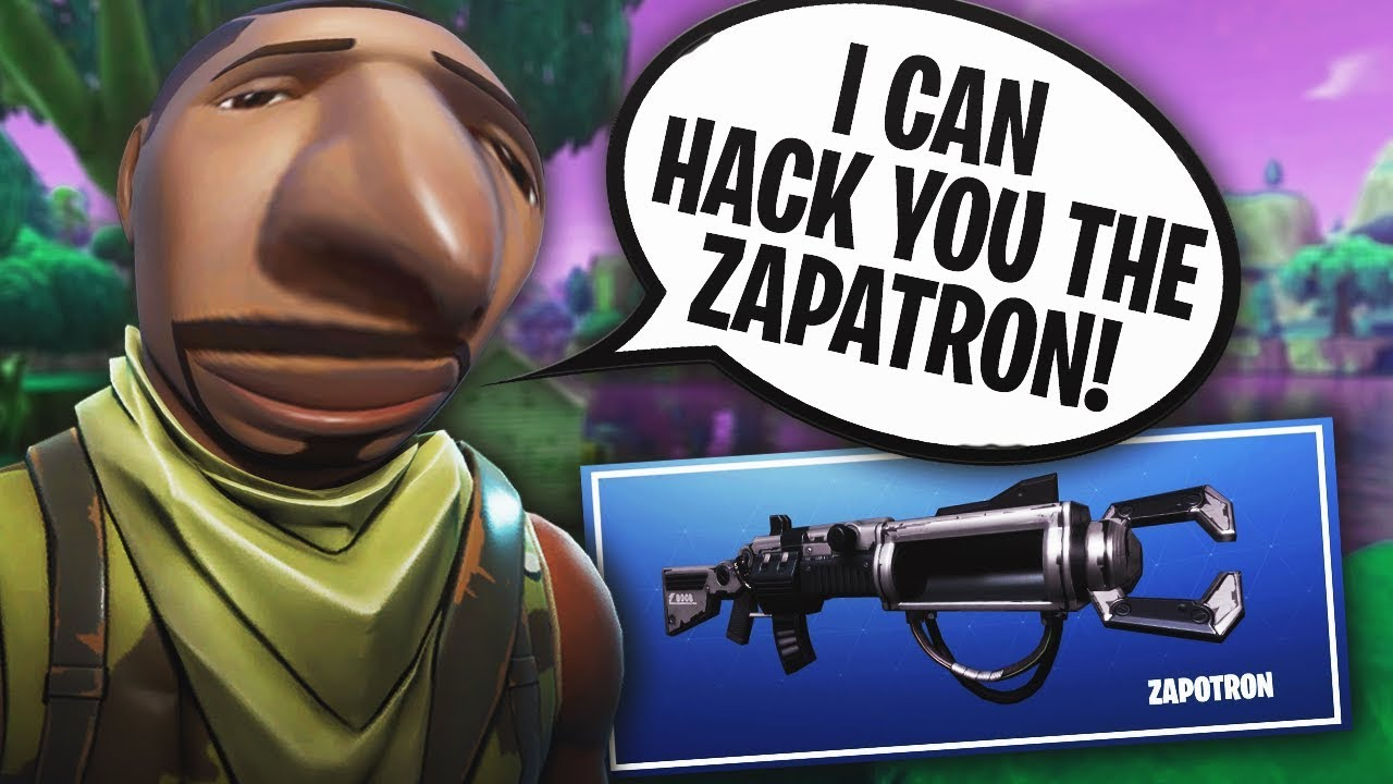 SCAMMER WANTS TO GIVE ME THE ZAPATRON! 😂MESSING WITH FORTNITE SCAMMERS EP. #3!
