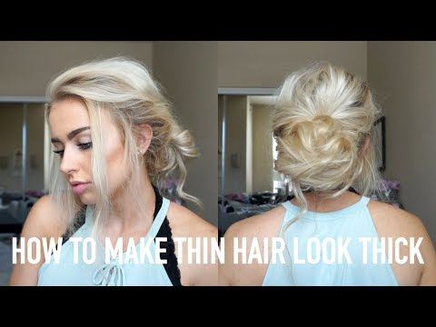 How To Make Thin Hair Look Thick & Volumized | NO HEAT OR TEASING