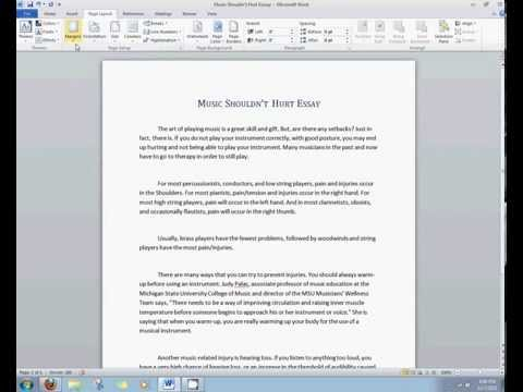 Microsoft Office 2010/2007 Tutorial - Changing Margins and Font Size - SPACESIDD - HD & HQ - Updated