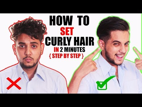 How To Set CURLY / WAVY HAIR At Home For Men In Hindi