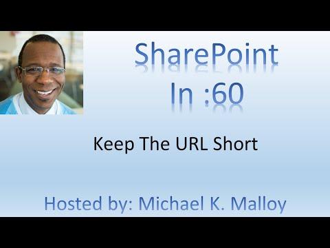 How To Keep SharePoint URL Short