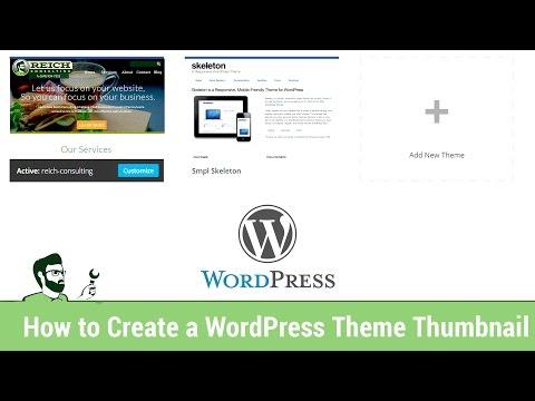 How to Create a WordPress Theme Thumbnail