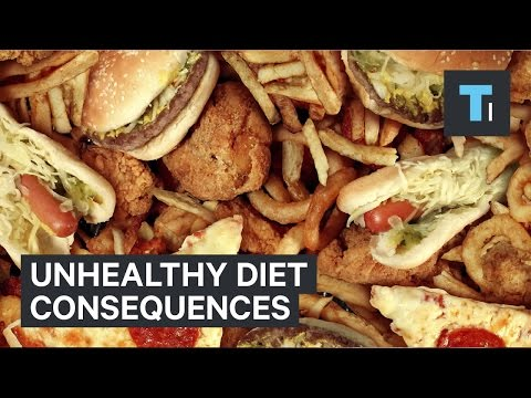 Unhealthy diet consequences