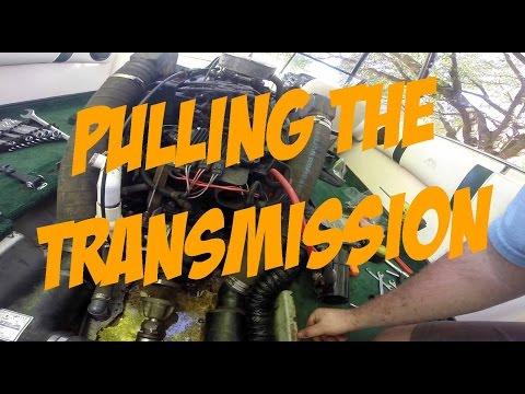 MaksWerks Garage - 1997 Supra Vision Ski Boat - Removing the PCM 40i Transmission