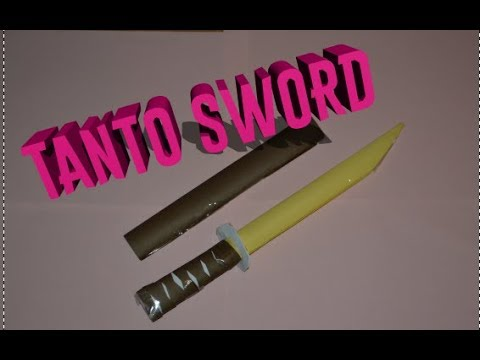 How to make a paper sword - Japanese Tanto Sword