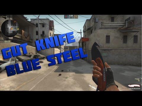 CS:GO Skin Showcase - Gut Knife   Blue Steel