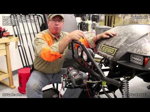 How to Install KC Lights on an EZGO Golf Cart