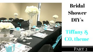 Diy Bridal Shower Centerpieces Vases And Serving Trays Dollar Tree It