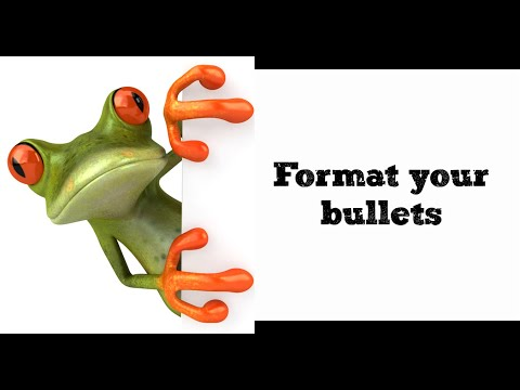 Format Your Bullets