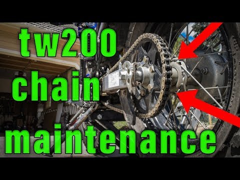 How To Clean, Lube, Check and Adjust the Drive Chain on a TW200