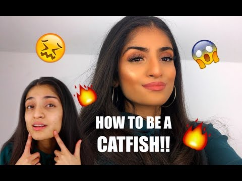 0-100 GLAM MAKEUP LOOK aka HOW TO BE A CATFISH | Kim Mann