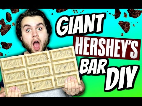 DIY Giant Hershey's Cookies & Cream Bar! | How To Make A HUGE White Chocolate Oreo Candy Bar!