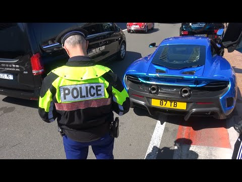 2016 Top Marques - Monaco Police Stops Supercars!