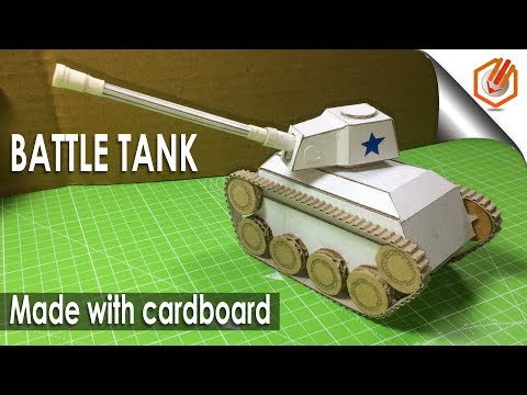 How to make a Tank from Cardboard - Amazing Toy DIY- easy way