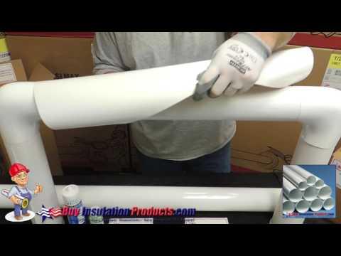 Install PVC Cut & Curl Jacket on Fiberglass Pipe Insulation