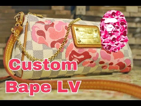 Custom Louis Vuitton Bape Purse