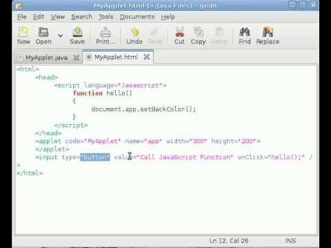Java Applet Tutorial #9 Calling Applet Method from JavaScript