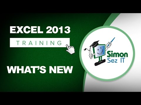 Microsoft Excel 2013 Training - What's New - Excel Training Tutorial