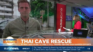Thai Cave Rescue: 90 rescuers work to free 5 still trapped before rain hampers efforts