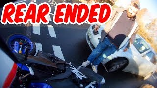 Rear Ended! | Close Calls & Hectic Rider Moments