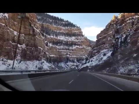 Tesla Model S Driving through the Rocky Mountains in Colorado