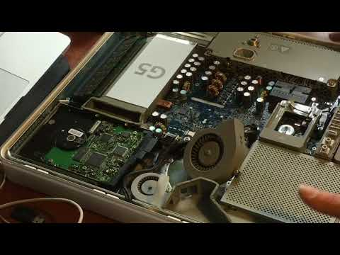 How to Replace Memory Hard disk and clean out fan's on iMAC 8.1 G5  made in 2004 - 2018
