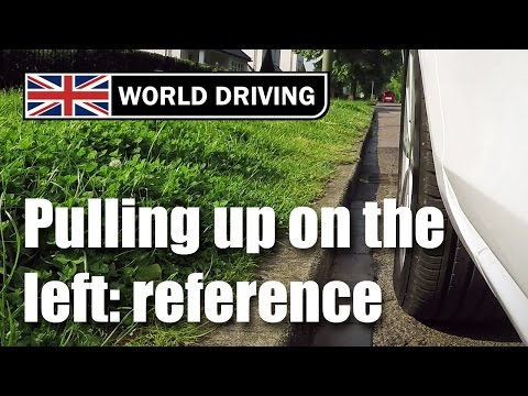 How to pull up on the left perfectly in a car - Learning to drive