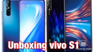 Unboxing vivoS1 brand new phone blue color best gaming mobile 2019
