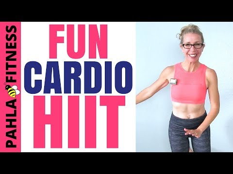 FUN Cardio HIIT   Burn 200 Calories in 20 Minutes, All Standing Agility Workout