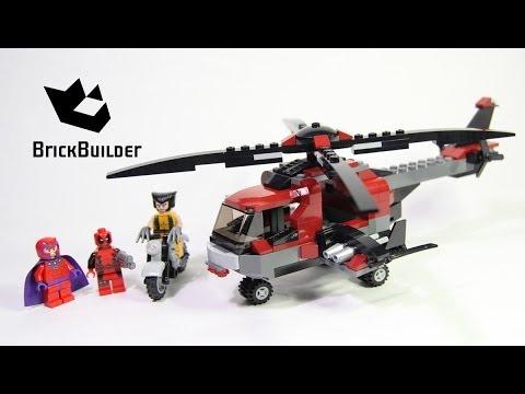 Lego Super Heroes 6866 Wolverine's Chopper Showdown - Lego Speed Build