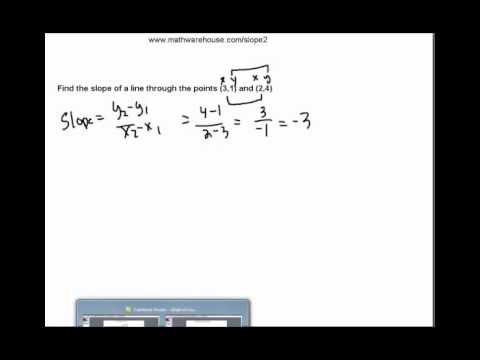 How to find the slope of a line. Tutorial with Examples