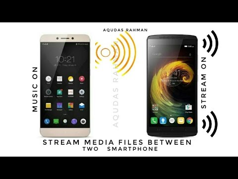 How to stream music files to another android device from your device ( Hindi ) easiest way