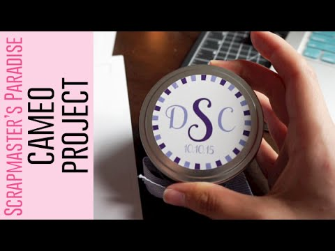 550: DIY Sticker Labels for Candles with Silhouette Cameo