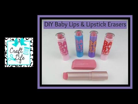 Craft Life ~ Jacy and Kacy DIY ~ Easy Baby Lips Lip Balm & Lipstick Eraser Tutorial