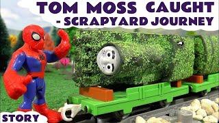 Thomas and Friends Game |  Superheroes Spiderman Iron Man Batman and Superman guard Tom Moss